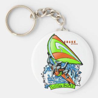 Windsurfing Shark Attack Keychain
