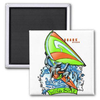 Windsurfing Shark Attack Magnet
