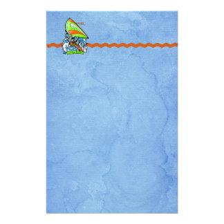 Windsurfing Shark Attack Stationery Design