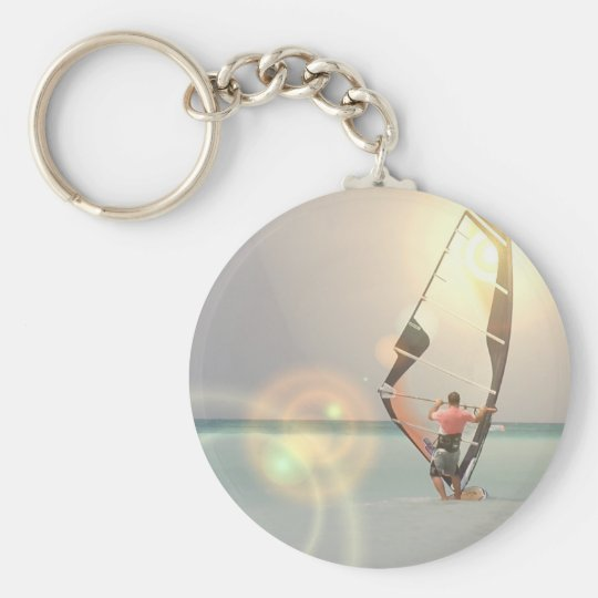 Windsurfing Sport Keychain