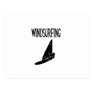 windsurfing v1 black text sport.png postcard