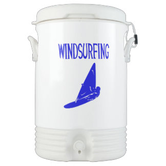 windsurfing v1 blue text sport.png beverage cooler