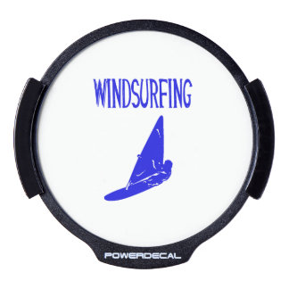 windsurfing v1 blue text sport.png LED car decal
