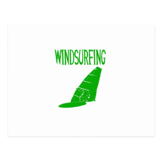 windsurfing v2 green text sport copy.png postcard