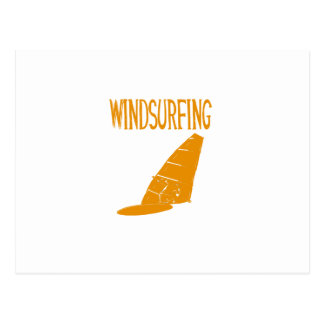 windsurfing v2 orange text sport copy.pngc postcard