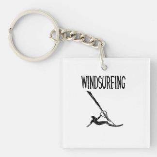 windsurfing v3 black text sport windsurf windsurfe acrylic keychains