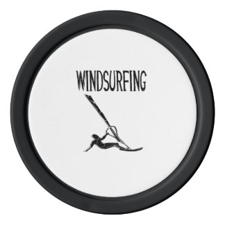 windsurfing v3 black text sport windsurf windsurfe set of poker chips