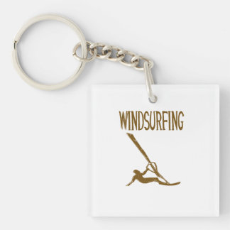 windsurfing v3 brown text sport copy.png square acrylic key chains