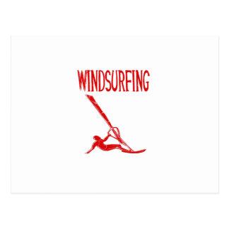 windsurfing v3 red text sport.png postcard