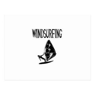 windsurfing v4 black text sport windsurf windsurfe postcard