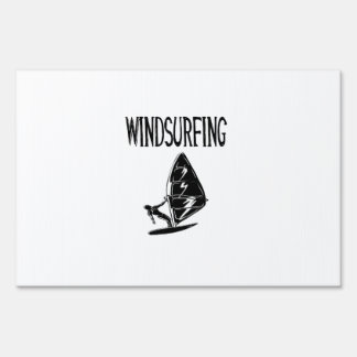 windsurfing v4 black text sport windsurf windsurfe yard signs
