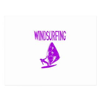 windsurfing v4 purple text sport copy.png postcard