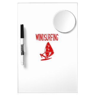 windsurfing v4 red text sport.png dry erase board with mirror