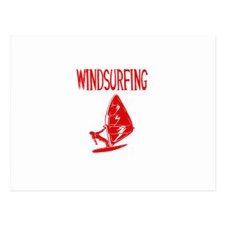 windsurfing v4 red text sport.png postcard