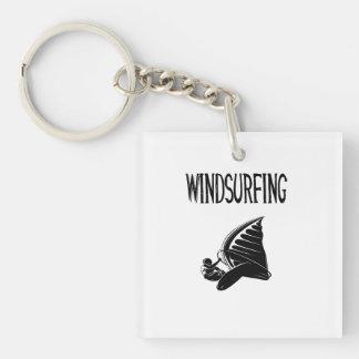 windsurfing v5 black text sport windsurf windsurfe acrylic keychains