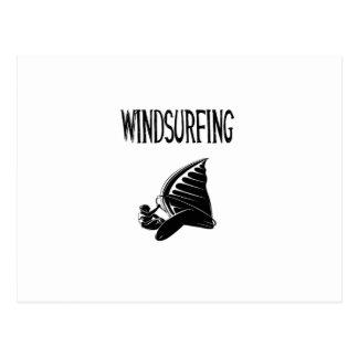 windsurfing v5 black text sport windsurf windsurfe postcard