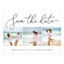 Windswept | Beach Wedding Photo Save the Date Postcard