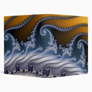 Windswept Fractal Art 3 Ring Binder