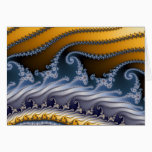 Windswept Fractal Art Card