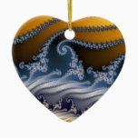 Windswept Fractal Art Ceramic Ornament