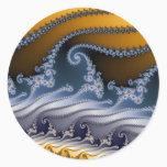 Windswept Fractal Art Classic Round Sticker