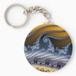 Windswept Fractal Art Keychain