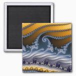 Windswept Fractal Art Magnet