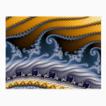 Windswept Fractal Art Postcard