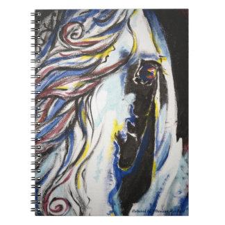 Windswept Gypsy Vanner Horse Eye Spiral Notebook