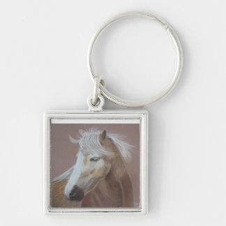 Windswept Horse Keychain
