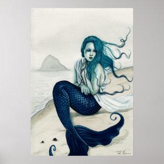Windswept Mermaid Poster