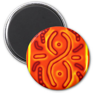 Windswept Orange Infinity Abstract CricketDiane Refrigerator Magnet