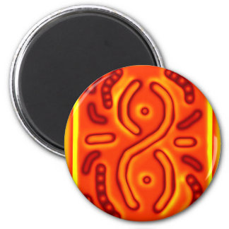 Windswept Orange Infinity Abstract CricketDiane Refrigerator Magnets