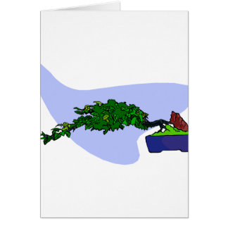 Windswept Root Over Rock Bonsai Card