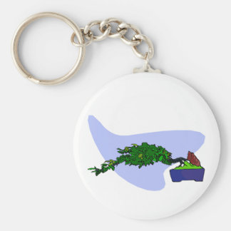 Windswept Root Over Rock Bonsai Key Chains