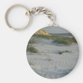 Windswept Sandy Beach Key Chain