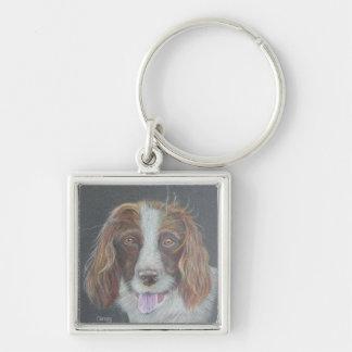 Windswept Spaniel Dog Keychain