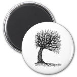 windswept tree of life 2 inch round magnet