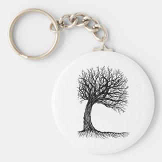 windswept tree of life key chain