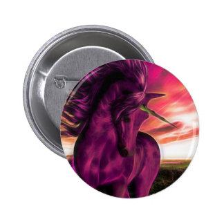 Windswept Unicorn in Amethyst Button