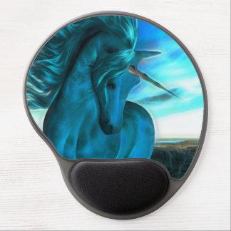 Windswept Unicorn in Azure Gel Mouse Pad