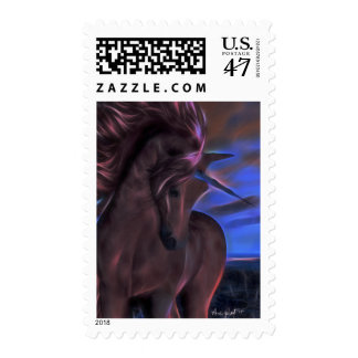 Windswept Unicorn in Chestnut Postage