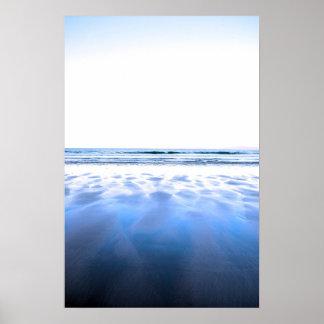 windswept winter beach view poster