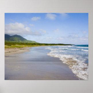 Windward Beach, Nevis Poster