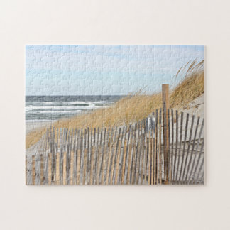 Windy autumn beach day puzzle