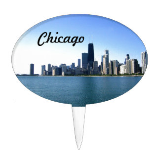 Windy City Across the Lake Cake Topper