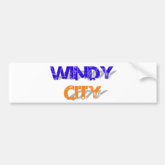 Windy City Car Bumper Sticker