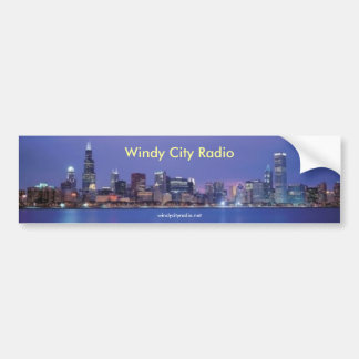 Windy City Radio bumper sticker Car Bumper Sticker