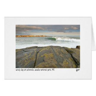 Windy day at schoodic photo card