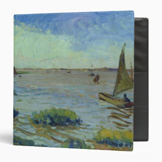 Windy Day on the Elbe, 1911 3 Ring Binder